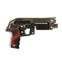 Pistola De Brinquedo De Elástico Em Madeira Mdf