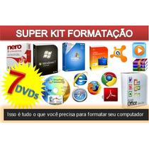 Kit 7 Dvds P/ Formatação Profissional, Sistemas E Programas.