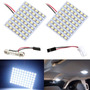Kit 2 Placas 48 Led Super Branca Pingo Torpedo Teto Mala 12v Original