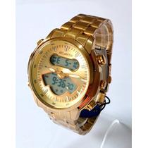 8c0514f90ba Busca Relógio Atlantis dourado com os melhores preços do Brasil ...