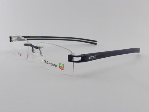 7e34c81014bdb Armação Óculos De Grau Tag Heuer 7644 Azul