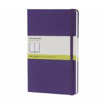 Caderno Moleskine Sem Pauta Gde Violeta Capa Dura 6507
