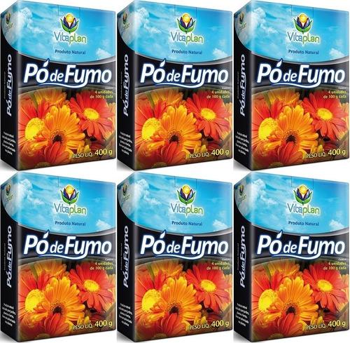 6 Caixa De Pó De Fumo Repelente Natural Para Plantas 400g