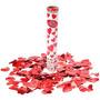 Lança Confetes Coração Vermelho 30 Cm.caixa Com12 Tubos