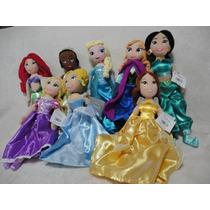 Princesas 2 Bonecas De Plush De 30 Cm - Original Disney
