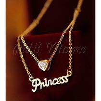 Colar Princesa - Dourado - Semi Jóia!!!