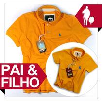 Pai & Filho Blusa Polo Sheepfyeld, Qualidade De Importada