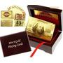 Cartas De Baralho Poker Ouro 24k Com Karatcertificado Gold