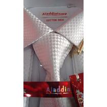 Camisa Importada,abotoadura,gravata,prendedor = Kit Completo