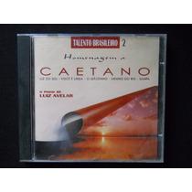 Homenagem A Caetano - O Piano De Luiz Avelar - Cd