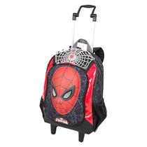 Mochila Infantil C/rodinhas Spiderman Homem Aranha 16z