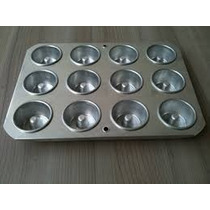 Forma Mini Pudim Mini Torta Suiça Nº 1 Com 12 Cavidades Alum
