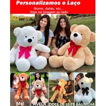 Urso Gigante Pelúcia Grande Teddy 1,10 Metros Personalizado