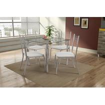 Conjunto De Mesa Isadora Com 4 Cadeiras - Mobisul