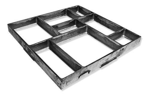 Forma Piso Jardim Uso - Concreto Alumínio 50x50x4,5