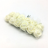 144 Mini Rosas Rosinhas Flores Artificiais - Escolha A Cor