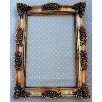Moldura Antique Ouro Velho Já Com Espelhos Em Vidro