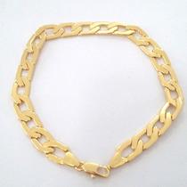 Pulseira Masculina Bracelete 7mm Folheado Ouro 18k+ Garantia
