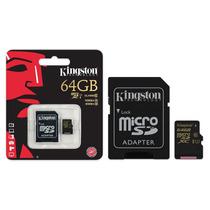 Cartao Memoria Kingston Sdca10/64gb Sdxc 64gb Adaptador
