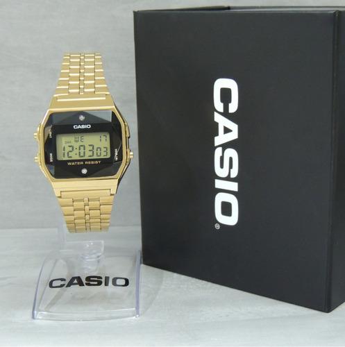 c06bacc0131 Relógio Casio Vintage Diamond A159wged-1df - Nf E Garantia. R  398.9
