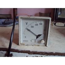 Voltímetro Analógico Siemens 0 A 500 Volts Usado