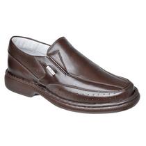 Sapato Masculino Anti-stress Diabético Até Tam 47 Couro Leg
