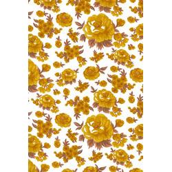 Tricoline Flores Amarelo
