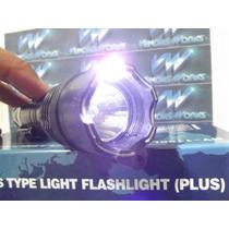 Lanterna Tatica De Choque 6x1 Com Strobo Recarregavel Polic