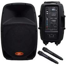 Caixa Donner Ativa Microfone Sem Fio Dr12 Usb Sd Fm Bateria