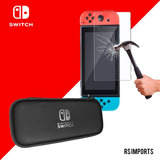 Case Bolsa Estojo Nintendo Switch + Película Vidro
