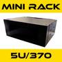 Mini Rack Parede Padrão 19 5u X 370mm Preto Rede Lan Utp +nf