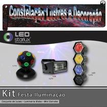 Kit Baladas C/ Globo Giratório+ Canhão Rítmico+ Strobo 127 V
