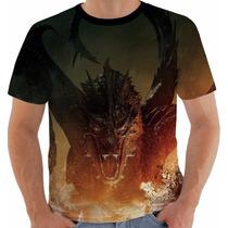 Camiseta Hobbit - Smaug - Senhor Dos Anéis - Tolkein
