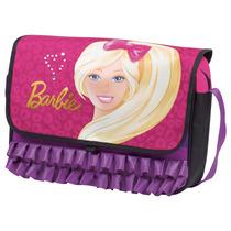 Pasta Barbie 16z Em Poliéster, Bolso Interno - Sestini