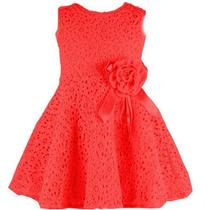 Vestido Infantil Festa Renda Broche *frete Gratis*