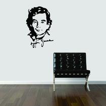 Adesivo Parede Decorativo Ayrton Senna Sala Quarto Cozinha