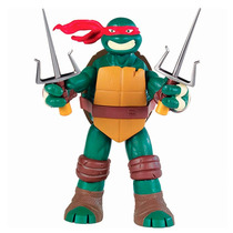 1 Boneco Tartarugas Ninja Battleshell 28cm Acessorios Br033