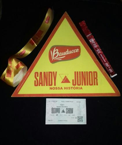 Sandy Junior Ingresso P/colecionador- Nossa História 4 Itens