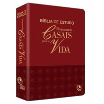 Bíblia De Estudo Preparando Casais Para A Vida Bordô 16x23cm
