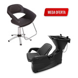 Kit Lavatório De Cabelo + Cadeira Primma Dompel C/ Garantia