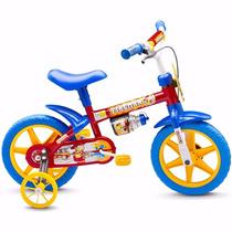 Bicicletinha Bicicleta Infantil Menino Aro 12 Fireman Nathor