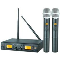 Microfone Sem Fio Staner Mao Srw48d-duplo