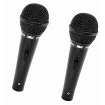 Par Microfone Fio Simples Unidirecional Jwl 4 Shure Sm-22