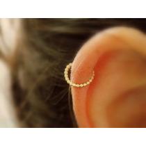 Piercing Argola Orelha Helix Fl Ouro Cartilagem Falso Septo