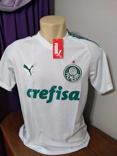 21a30f43ed Camisa Palmeiras Branca Uniforme N°2 2019 Frete Grátis