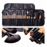 Kit De Pincel De Maquiagem Profissinal Com 24 Pçs C/estojo