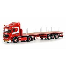 Miniatura Caminhao Scania R(5) Highline 4x2 Prancha 1:50 Wsi