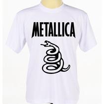 Camisa Camiseta Estampada Banda Rock Heavy Metal Metallica