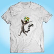 Camisa Rei Julian Madagascar Desenho Animado Personalizada