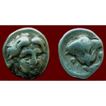 Rhodes, Caria. Hemidracma Prata. Moeda Antiga Grega Grécia
